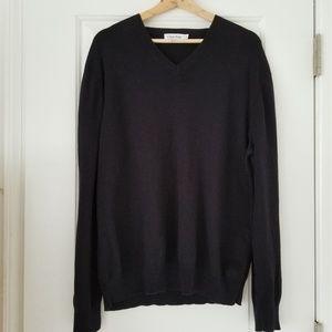 Calvin Klein Men's Black 100% Cotton Sweater